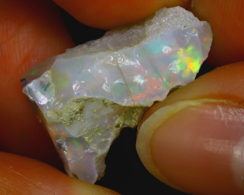 12.00Ct Multi Color Play Ethiopian Welo Opal Rough H0410/R2