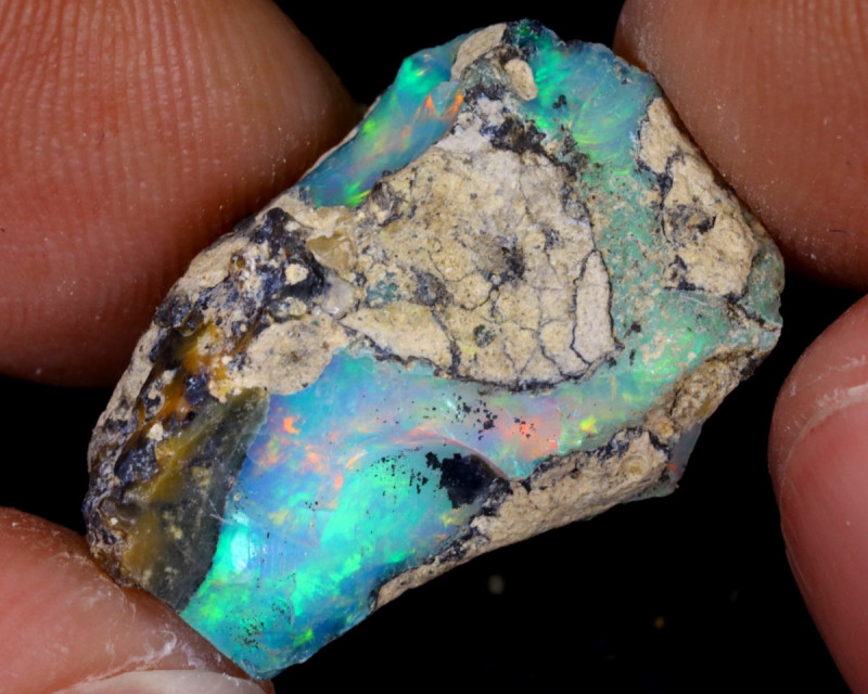 10cts Natural Ethiopian Welo Rough Opal / WR7764