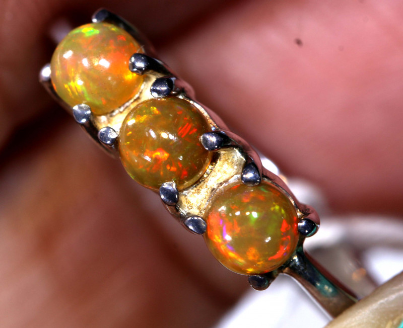 15.20 CTS  ETHIOPIAN OPAL RING STERLING SILVER     OF-897