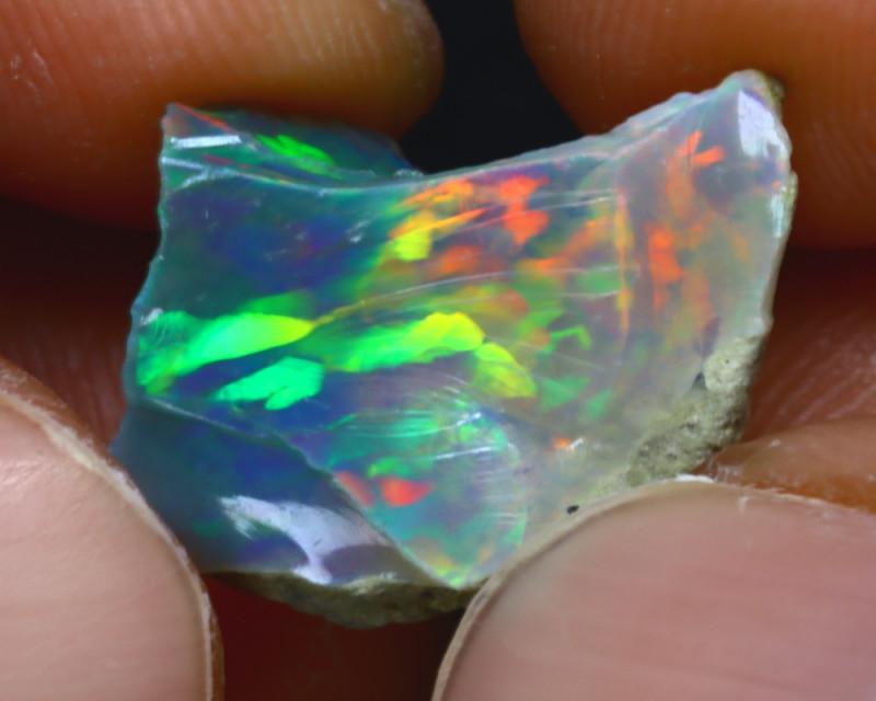 6.26Ct Multi Color Play Ethiopian Welo Opal Rough J1908/R2