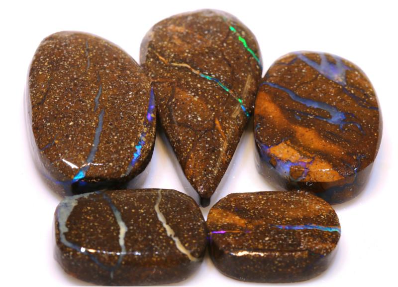 105cts Boulder Opal Pre Shaped Rub Parcel ADO-9007 - adopals