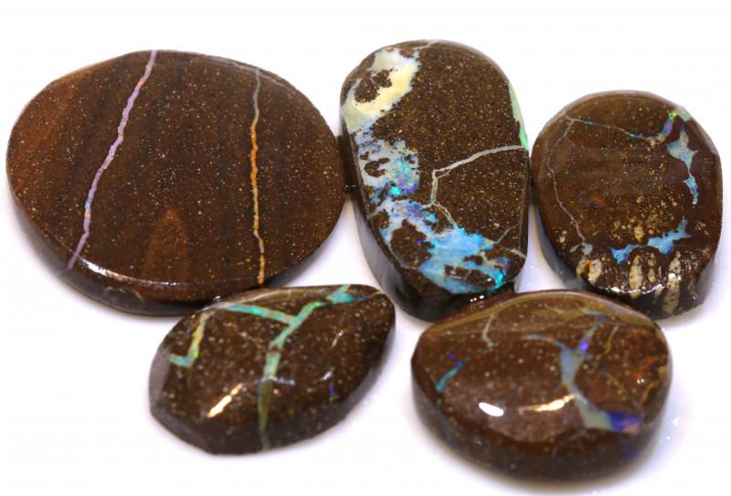 76cts Boulder Opal Pre Shaped Rub Parcel ADO-9021 - adopals