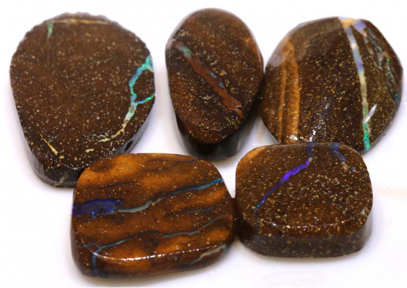 64cts Boulder Opal Pre Shaped Rub Parcel ADO-9023 - adopals