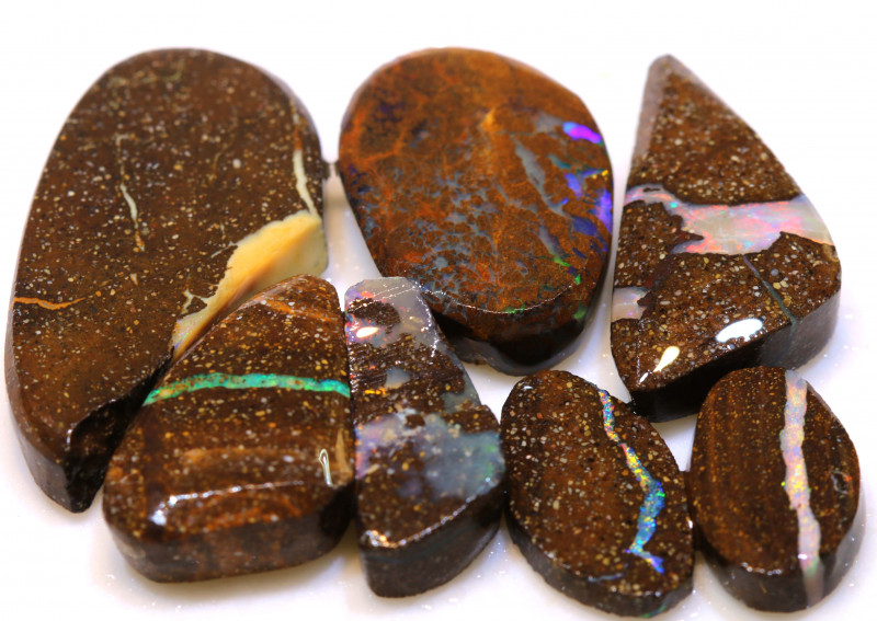 57cts Boulder Opal Pre Shaped Rub Parcel ADO-9029 - adopals