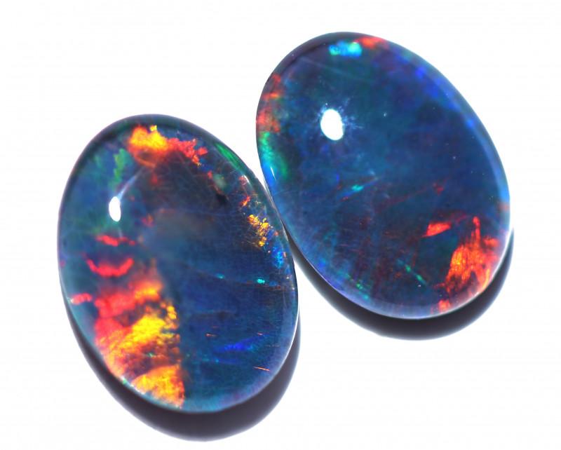 2 Cts Australian Triplet Opals Pairs 8x6mm FO 1432