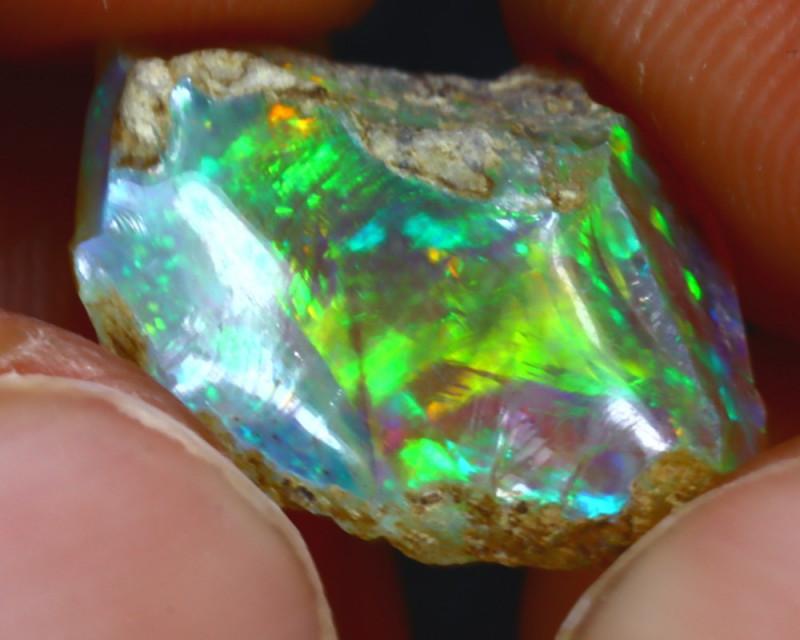 5.65Ct Multi Color Play Ethiopian Welo Opal Rough H2413/R2