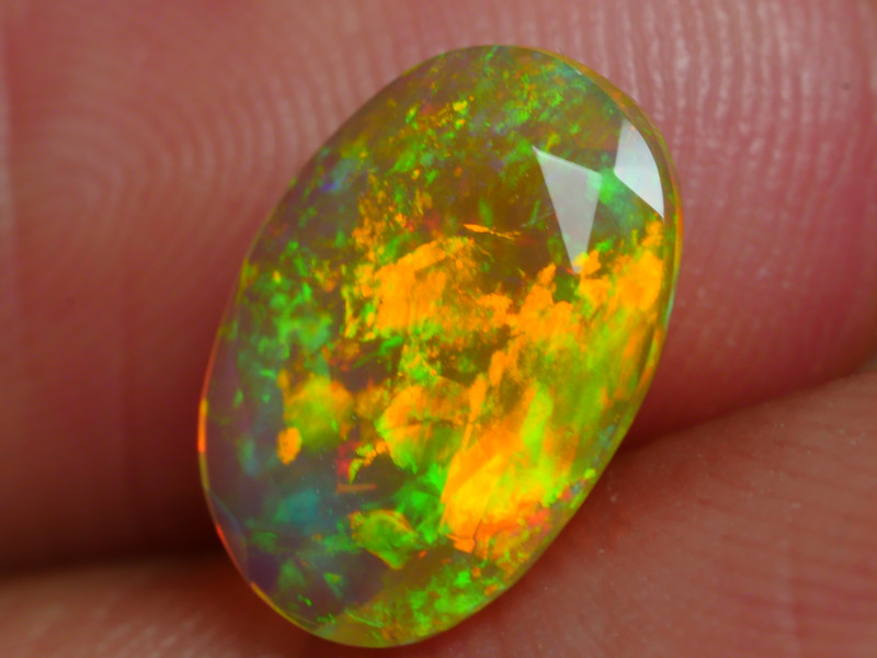 1.145 CRT BEAUTIFUL FACETED MULTI PLAY COLOR  WELO*