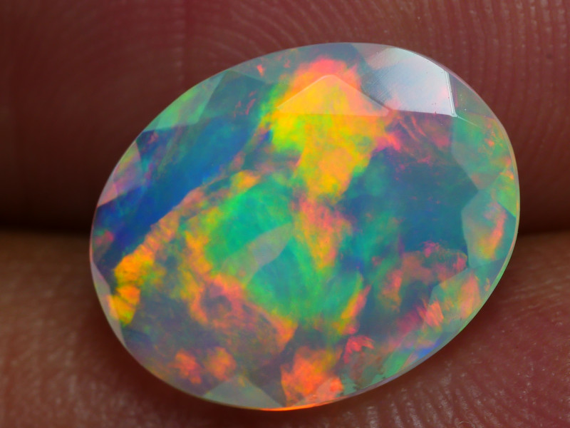 2.360 CRT BEAUTIFUL BRIGHT  FACETED MULTI PLAY COLOR  WELO*