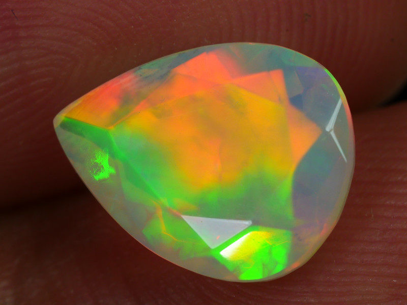 1.590 CRT BEAUTIFUL FULL COLOR FACETED MULTI PLAY COLOR  WELO*