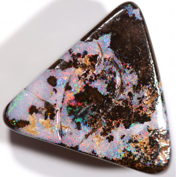 27.6 CTS DRILLED BOULDER OPAL STONE FS186