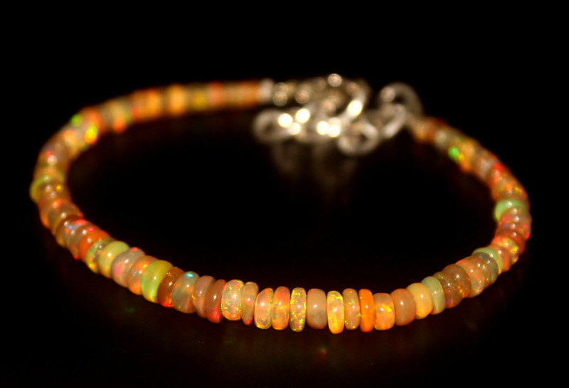 17.25 Crts Natural Ethiopian Welo Opal Beads Bracelet 32