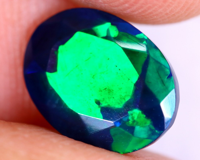 1.73cts Natural Ethiopian Welo Faceted Smoked Opal / NY2641