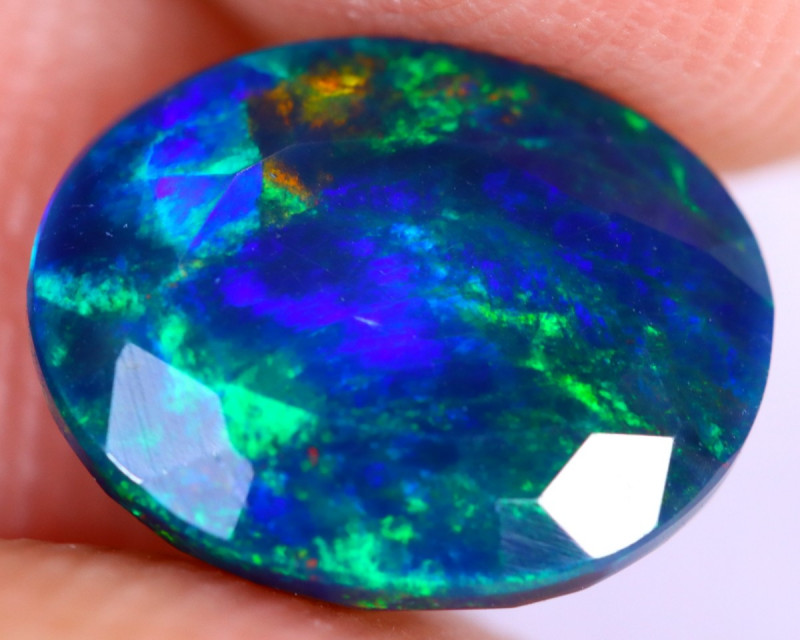 1.85cts Natural Ethiopian Welo Faceted Smoked Opal / NY2677