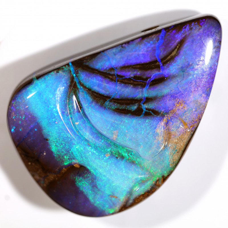 99 CTS DRILLED BOULDER OPAL POLISHED STONE FROM WINTON  [CS686]