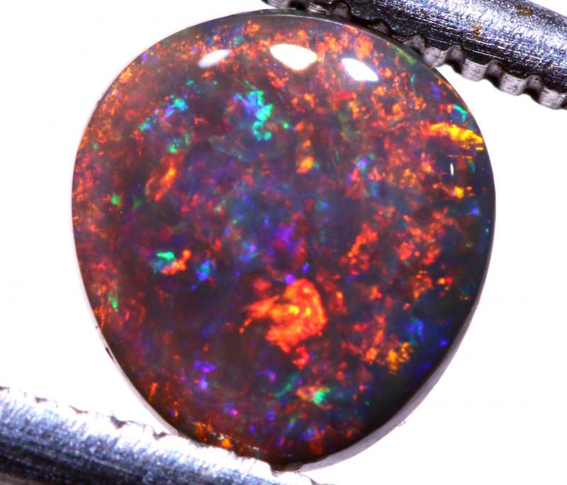 0.75cts   Red Black Opal Stone AOH-515  AUSTRALIANOPALHUNTER