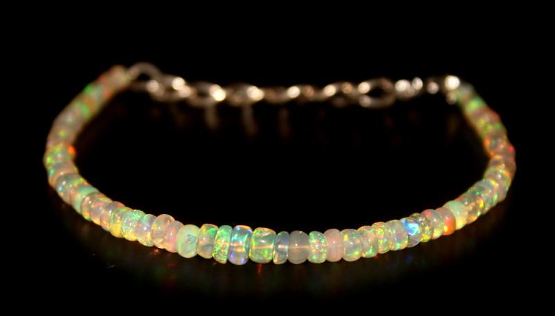 16.40 Crts Natural Ethiopian Welo Opal Beads Bracelet 11