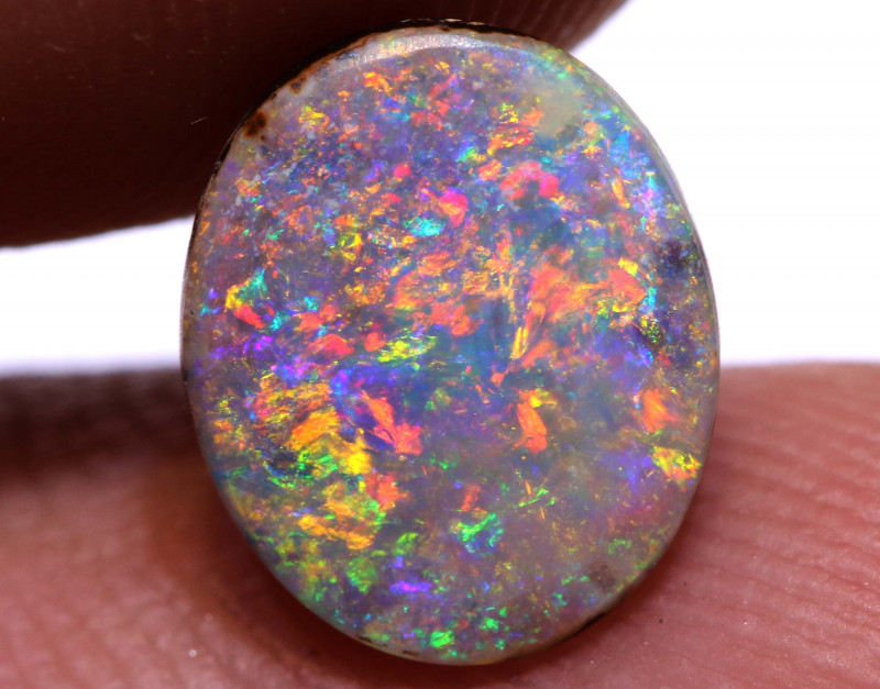 Boulder Opal Polished Stone AOH-574  australianopalhunter