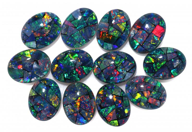 12 Cts Parcel 12 Australian Opal Triplet Mosaic  8x6mm FO 1610