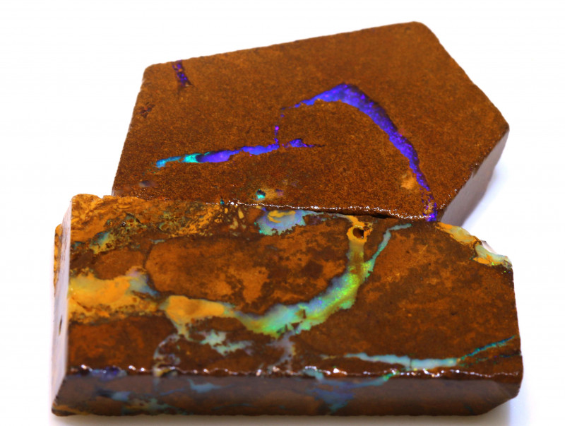 73cts Boulder Pipe Opal Prefinished Rubs  ADO-9447 - adopals