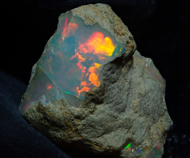 13.18ct Natural Ethiopian Welo Rough Opal