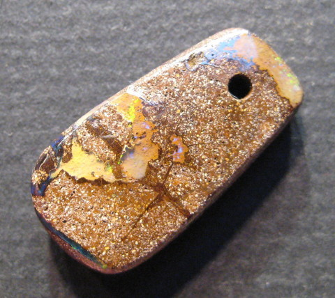 :FACE DRILLED BOULDER OPAL 12.5 .CTS FROM : C / O :.