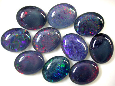 A PARCEL 10 PCS SELECTED GRADE TRIPLET OPAL 10 X 8 MM T885