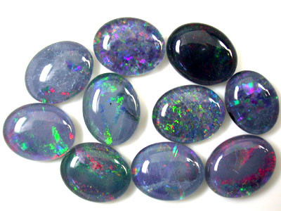A PARCEL 10 PCS SELECTED GRADE TRIPLET OPAL 10 X 8 MM T887