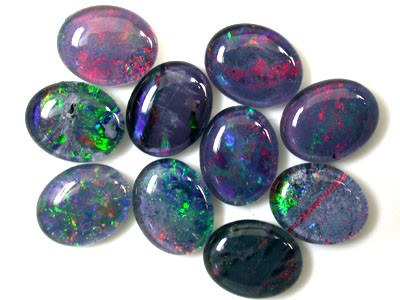 A PARCEL 10 PCS SELECTED GRADE TRIPLET OPAL 10 X 8 MM T897