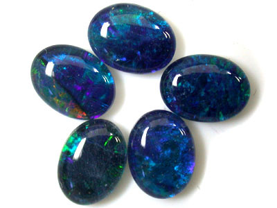 B+ PARCEL 5 PCS SELECTED GRADE TRIPLET OPAL 9 X 7 MM T1006