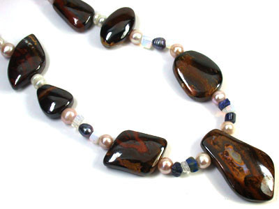 OPAL AND GEMSTONE BEAD NECKLACE 770 CTS EM 567