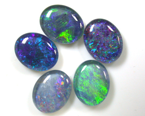 A PARCEL 5 PCS SELECTED GRADE TRIPLET OPAL 10X8 MM T1014