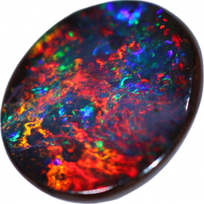 4.65 CTS OVAL BOULDER OPAL  STONE FROM WINTON -TOP POLISH-[BMB1194]