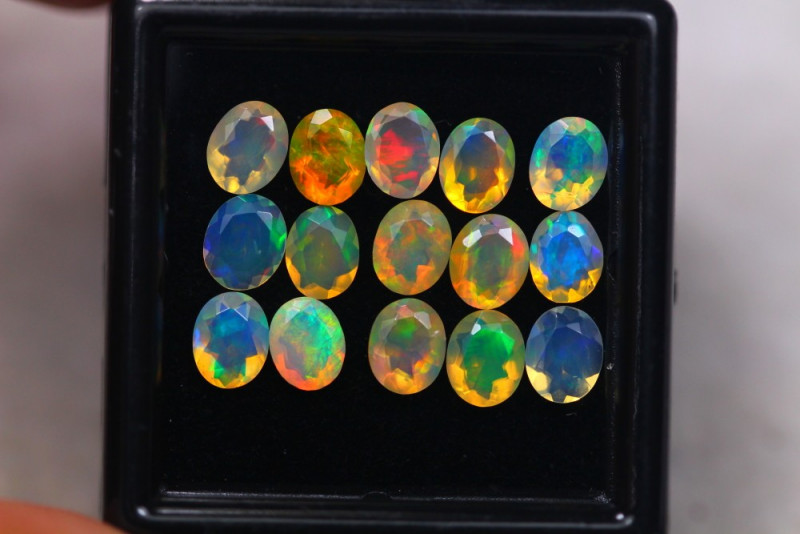 3.32  Ct Natural Ethiopian Welo Faceted Opal Lot W307