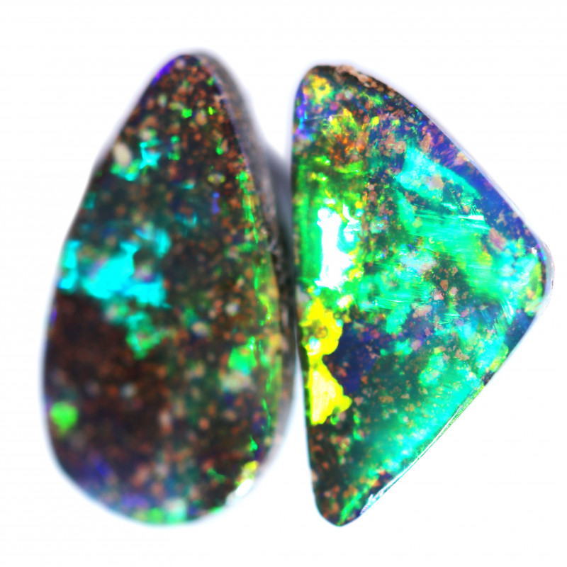 4.09 CTS NEON BRIGHT  BOULDER FROM THE HAYRICKS MINE POLISHED [BMB1213]