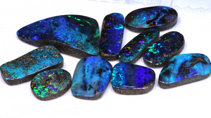 126 cts boulder opal polished cut stones TBO-A-3567  trueblueopals