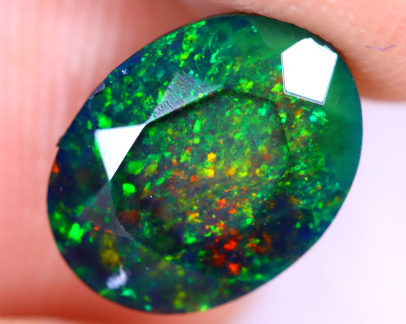 1.76cts Natural Ethiopian Welo Faceted Smoked Opal / UX1040