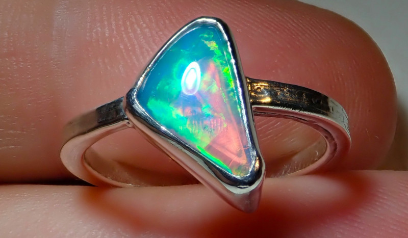 6size Natural Ethiopian Welo Opal .925 Sterling Silver