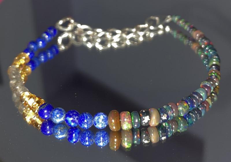 natural mixed gemstone bracelet 396