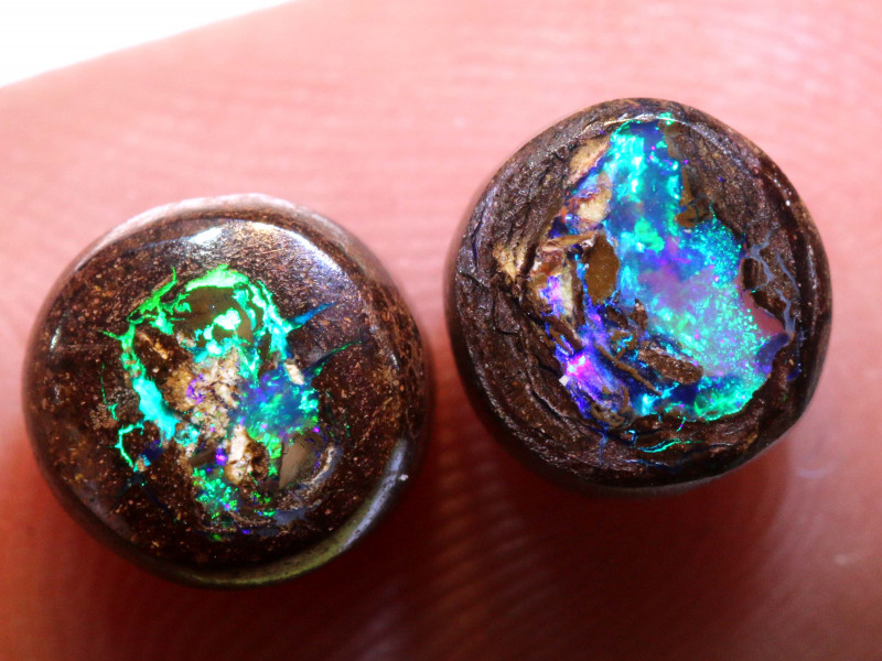 4.20 CTS BOULDER PIPE CRYSRTAL OPAL PAIR NC-9467-niceopals