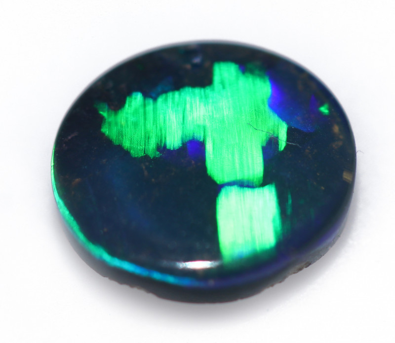 0.92 CTS LIGHTNING RIDGE LUCKY NO. 7 BLACK OPAL WELL POLISHED  [PS-SAFE012]