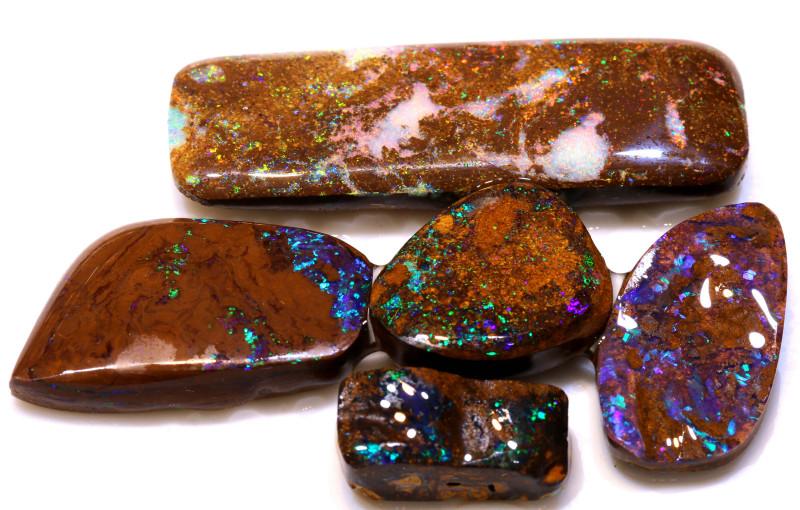 190cts koroit opal pre shaped rub parcel DT-A5351  dreamtimeopals