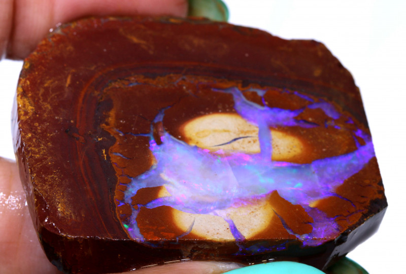 138.90cts Yowah Opal Rough Slice D-73   Daviddarbyopals