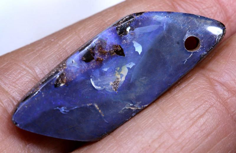 14.45Carats Boulder Opal Pre Drilled  Ro-1818    raniopals