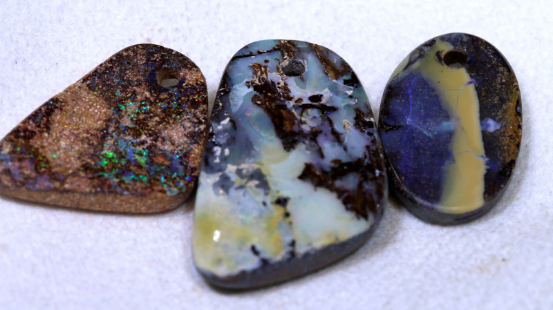 43.70CTS-Boulder Opal Drilled Parcel Ro-1831  raniopals