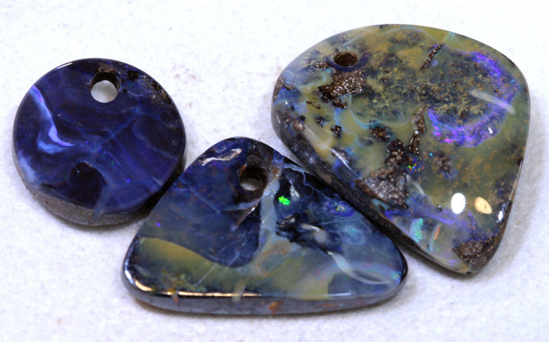 43.80CTS-Boulder Opal Drilled Parcel Ro-1833  raniopals