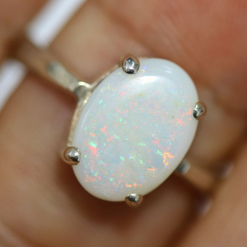 8 RING SIZE SOLID OPAL  FACTORY DIRECT [SOJ1688]