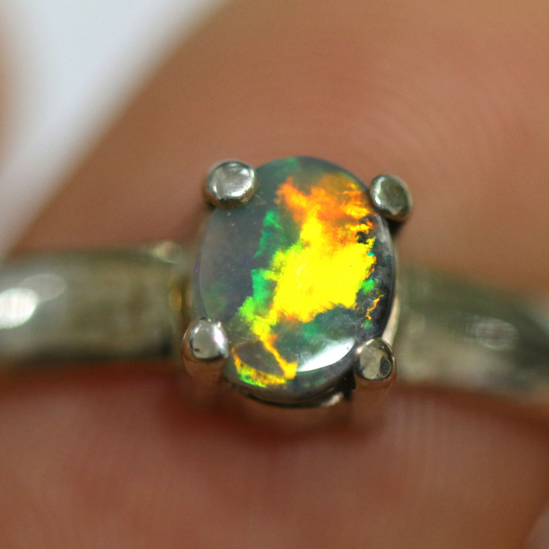 9RING SIZE SOLID OPAL FACTORY DIRECT [SOJ1460]