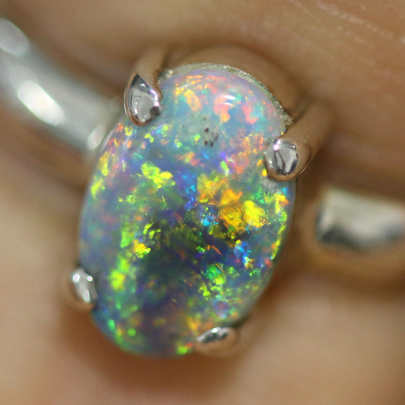 8 RING SIZE SOLID OPAL FACTORY DIRECT [SOJ1464]