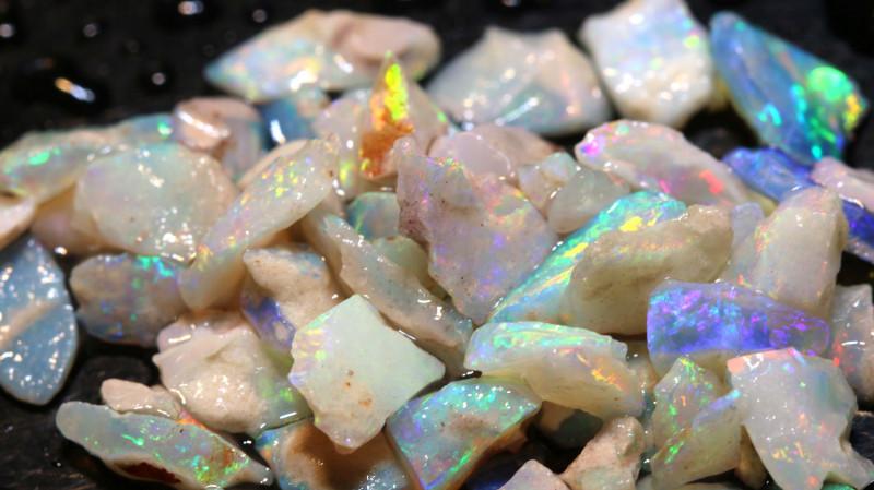 20cts Coober Pedy White Opal Rough Parcel  ADO-9634  adopals