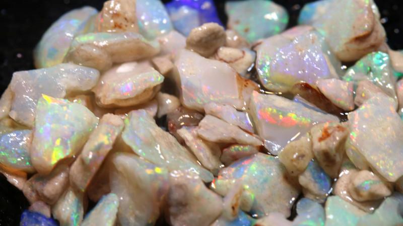 20cts Coober Pedy White Opal Rough Parcel  ADO-9643   adopals